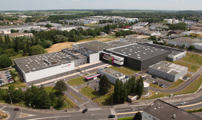 Aerial view of the Biocodex facility in Beauvais